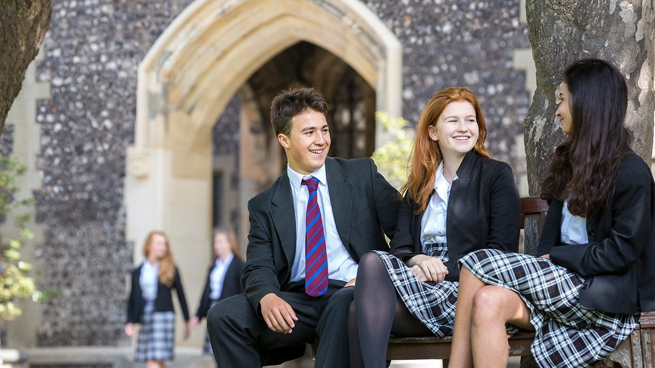 Brighton-College-pupils-relaxing-in-Quad-Scholarships-Trio.jpg