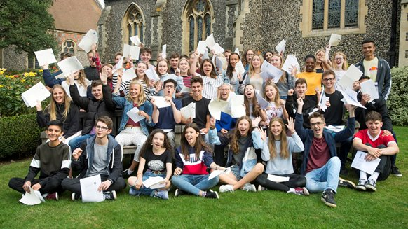 Brighton College GCSE results group