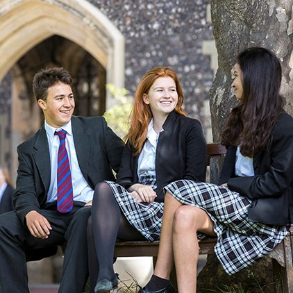 Brighton College pupils relaxing in Quad trio nav square .jpg