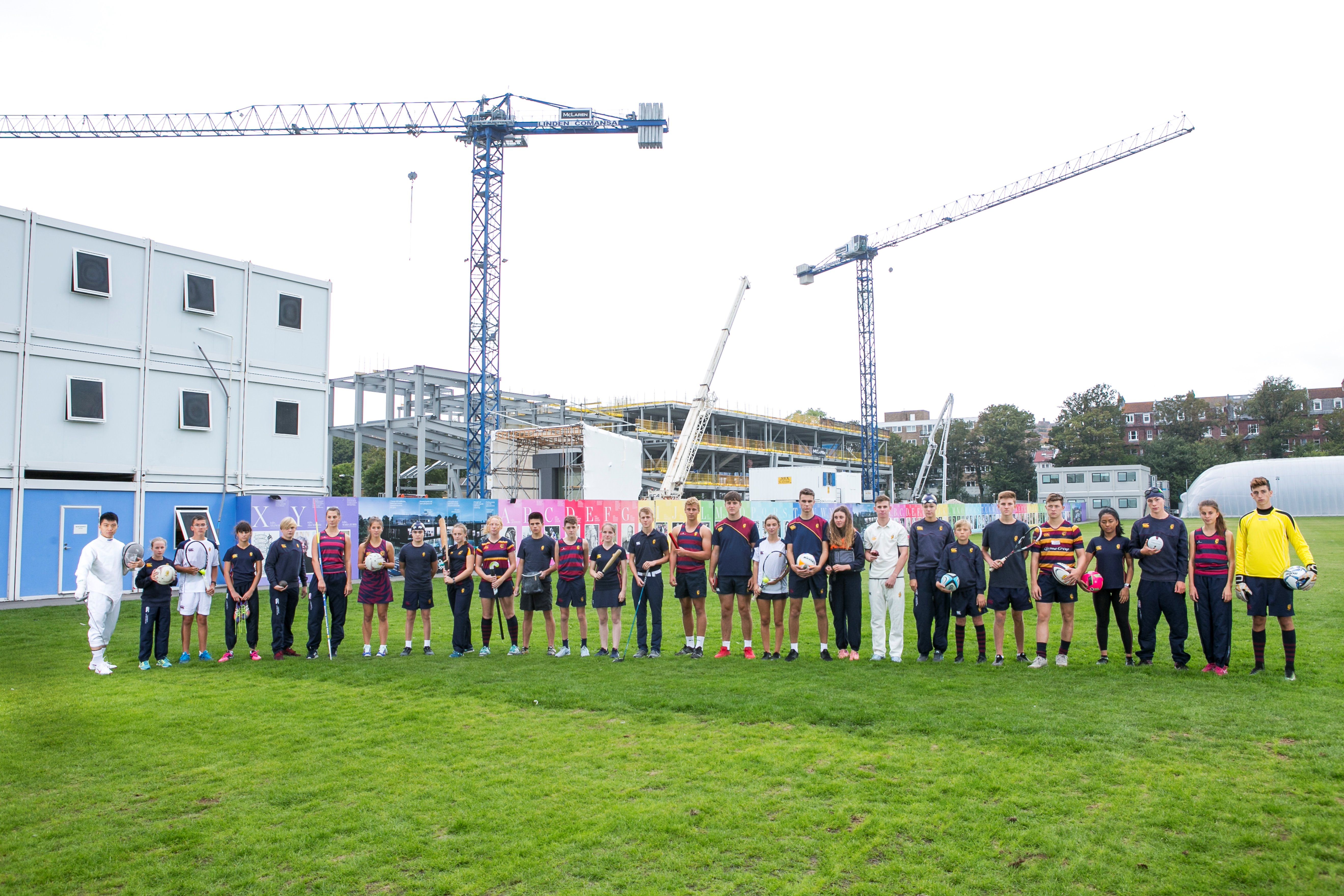 review photo shoot sports and science centre pupils building septemnber 2018 on home ground.JPG